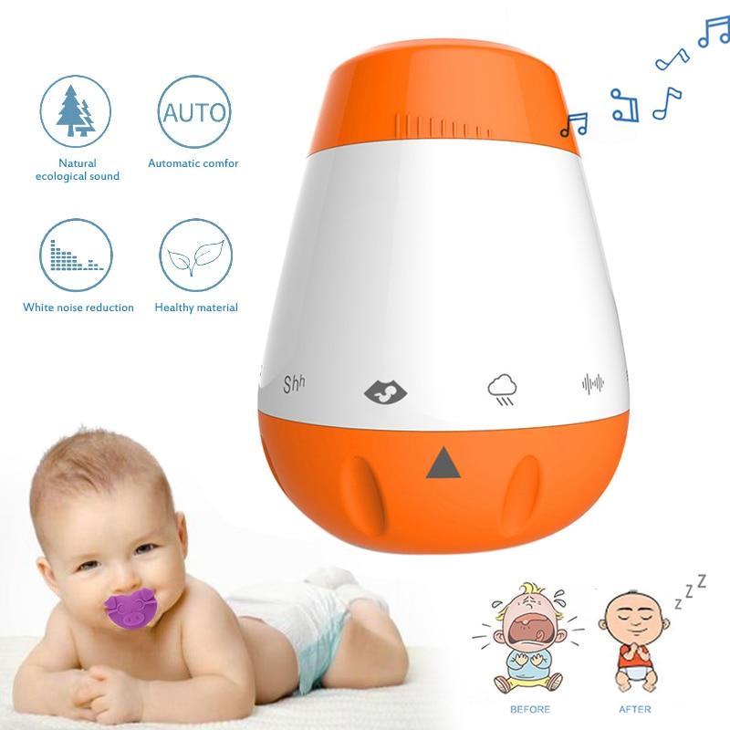 Infant Sleep Instrument New Style Smart White Noise Machine Sleep Pacifier Music Sleep Aids Tool Kids Sleeping Soothing Machine