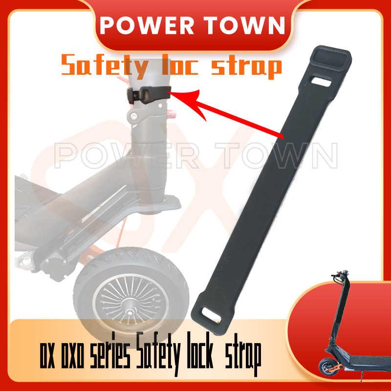 Оригинальные аксессуары для электрического скутера Oxo Ox, ремень безопасности с замком, Резиновая лента и крючок-держатель