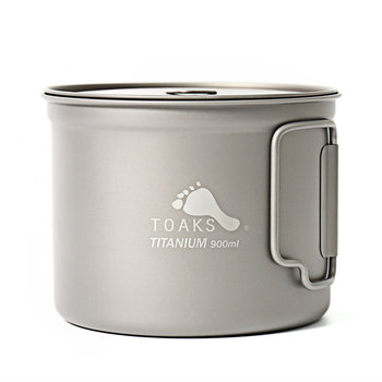TOAKS Titanium Tableware Outdoor Mug Camping Cup, Large Size Can be Used as a Pot POT-900-D115