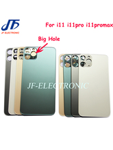 10Pcs Back Battery Glass Cover Wide Bigger camera Big hole Replacement For iPhone 11 pro max Rear Housing Door