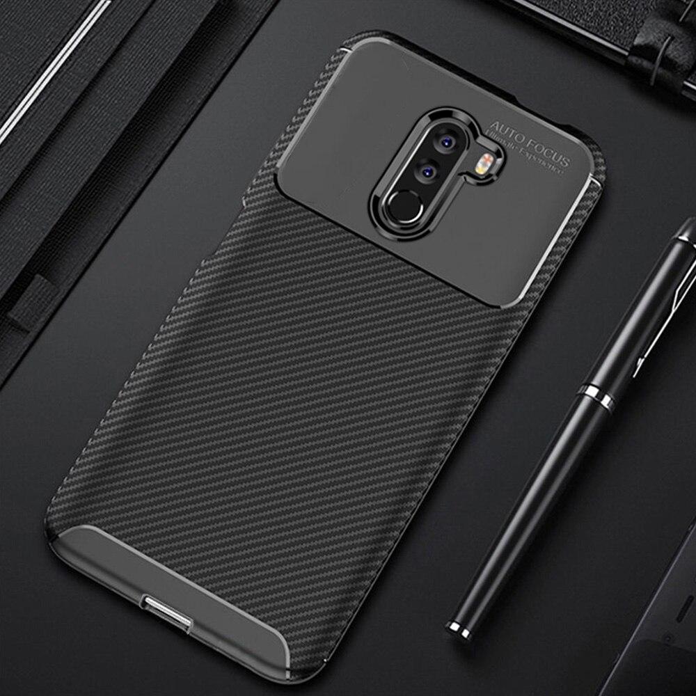 Для Xiaomi Pocophone F1 чехол из углеродного волокна чехол для телефона с полной защитой чехол для Pocofone Poco Phone F1 чехол противоударный бампер| |   | АлиЭкспресс