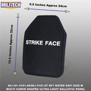 Image 5 - בליסטי פלייט Bulletproof NIJ רמת 3 + NIJ 0101.07 RF1 SAPI בגודל 1 PC קל במיוחד PE פנל נגד M80 & AK47 & M193 Militech