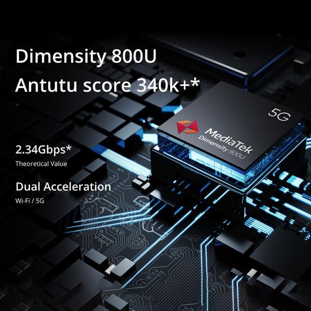 realme 7 5G 6.5''FHD+ Dimensity 800U 6GB 128GB 120Hz Display 48MP Camera 5000mAh 30W Dart Charge NFC Mobile Phone 5