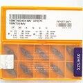 10 unidades/pacote VBMT160404-MV VP15TF VBMT331MV VP15TF CNC Pastilhas De Metal Duro Ferramentas De Corte Da Máquina
