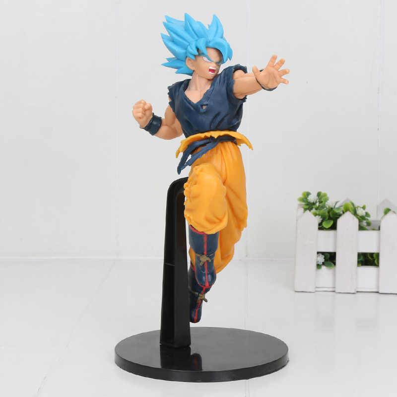 Dragonball broli estatueta super ultimate soldiers-o filme broly cabelo azul dragão bola z gogeta vegeta figura brinquedos