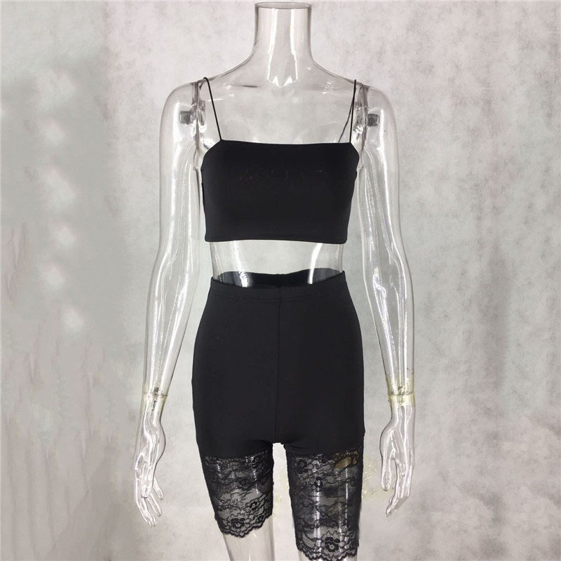 H06b63fb07831491daaf7b2ee9aa854ceV - WUHE Lace Patchwork Sexy Spaghetti Strap Jumpsuits Women Off Shoulder Sleeveless Elegant Bodycon Bandage Party Short Playsuits