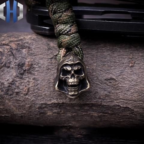 faca de morte paracord contas artesanal chave guarda chuva corda pingente edc pingente ao ar