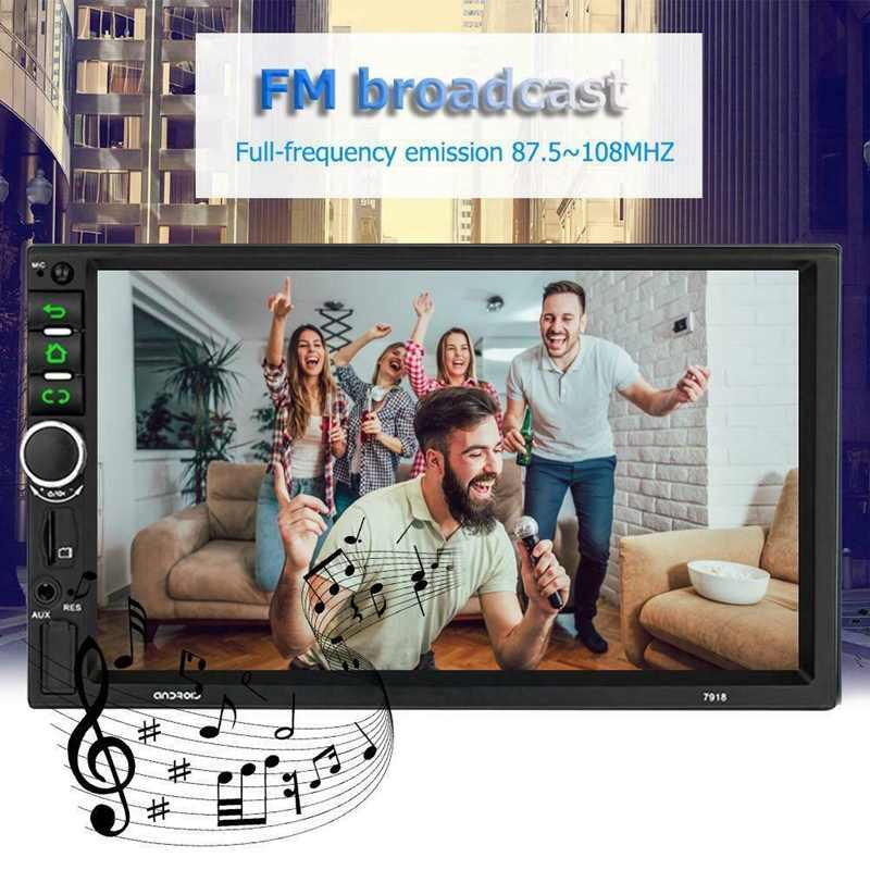 2 ディンアンドロイド 8.1 カーステレオ 7 インチ GPS ナビ MP5 プレーヤーダブル無線 Lan クアッドコア bt カメラ、 7918