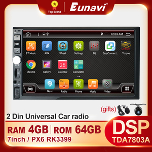 2 Din DSP Android Car Radio Multimedia Video Player Universal Stereo Audio WiFi RDS Touch Screen 2Din DVD NO CD GPS Navigation