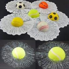 3D Мяч бьет окно автомобиля стекло сломанная наклейка автомобиль творческий Бейсбол Футбол Теннис Стиль Автомобильное окно
