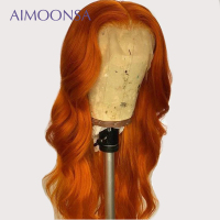 13*6 Lace Front Human Hair Wigs Ombre Wig 1B/Orange for Black Women with Baby Hair P131re pluked Brazilian Remy Wigs