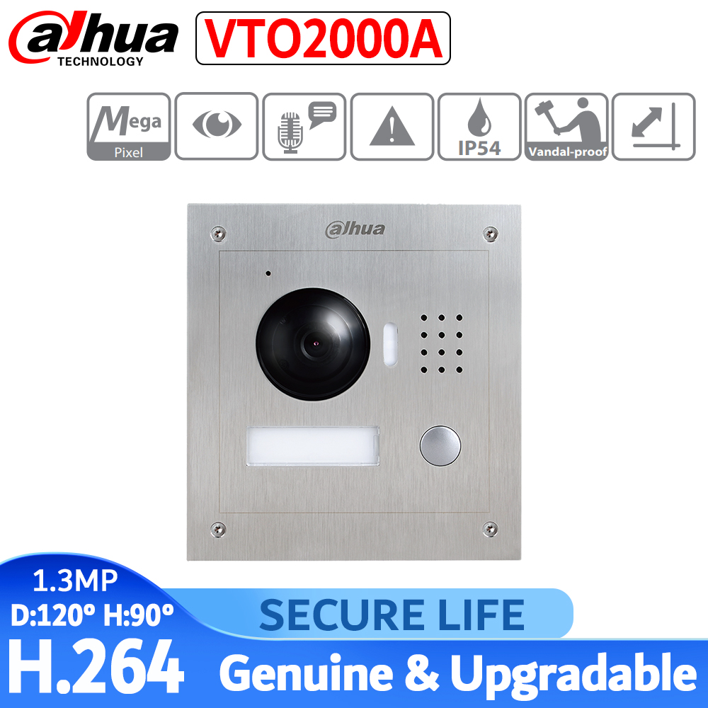 VTO2000A IP Metal Villa Outdoor Station Video  Intercom Door Phone 1.3MP Cctv Camera And Buit-in Mic And Speaker