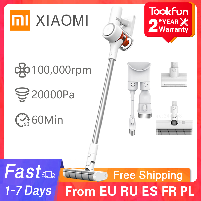 XIAOMI MIJIA Handheld Vacuum Cleaner 1C Home Car household Car Wireless Sweeping 20000Pa cyclone Suction Multifunctional Brush