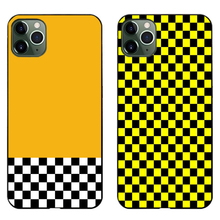 Checkers Yellow Black phone case Soft Cover For iPhone SE2020 11 Pro Max 6 7 8plus 5 X XS XR XSMax And Samsung S10 S9Plus series muhammad ali phone case boxing king black soft cover for iphone 11 pro max 6 7 8plus 5s x xs xr xsmax for samsung s10 series