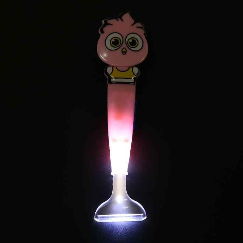 קריקטורה יהלומי ציור תרגיל LED עט עם אור צלב ערכת רקמת ציור כלים דבק פלסטיק מגש סט 5D DIY תרגיל עט