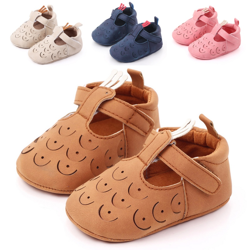 Soft Mary Jane Sole T-strap Baby Girls Shoes PU Leather Peacock Baby Moccasin Infants Toddler Baby Boy Kids T-bar Shoes