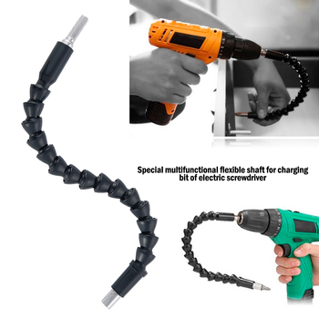 flexible drill bit extension flexible shaft bit magnetic hex soft shaft flexible screwdriver for electric drill bits fine finish 250/295mm Flexible Shaft Screwdriver Extension Link Rod Drill Bit Holder Flexible Connecting Link Power Tool Accessories
