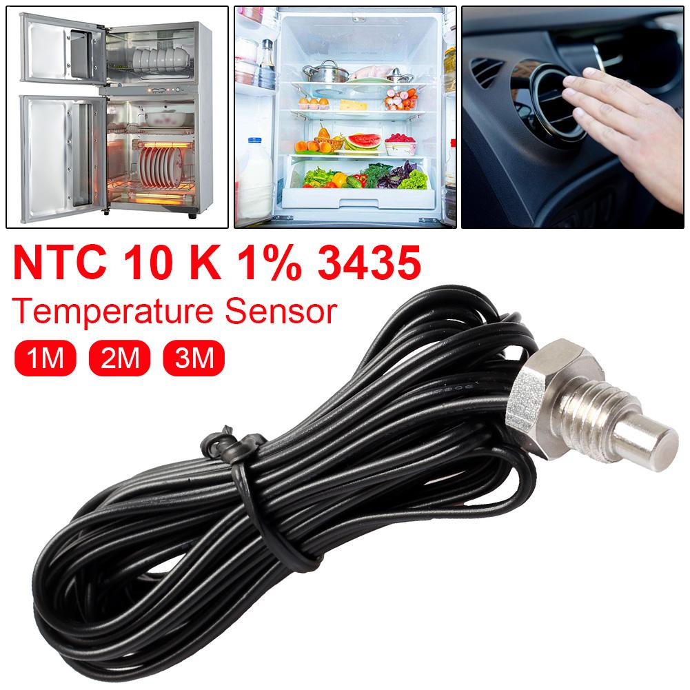 1m 2m 3m NTC M8 Stainless Steel Thermistor Temperature Sensor Waterproof Probe Wire Temperature Thermometer Probe R25=10K B=3435