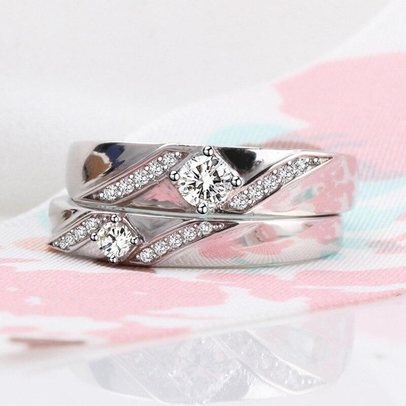 Bijoux en argent Sterling 925 VVS1 bague en diamant pour femmes Anillos Bizuteria topaze blanche en argent 925 bijoux bagues en diamant