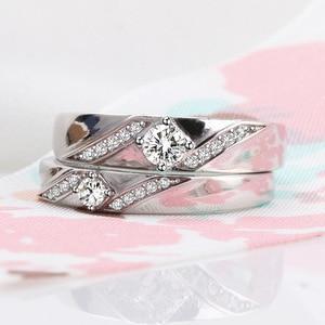 Silver Color 925 Sterling Jewelry VVS1 Diamond Ring for Women Anillos Bizuteria Topaz Gemstone Silver 925 Jewelry Diamond Rings(China)
