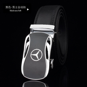 Image 2 - men belt luxury belts for men car logo Casual beltFull leather Famous brand new designer male automatic buckle cow leather