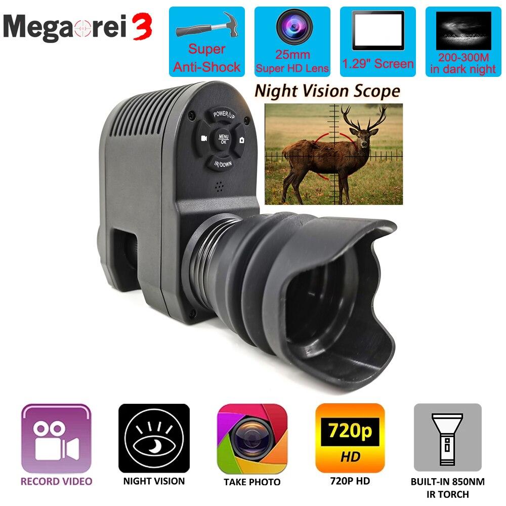 Megaorei 3 оптический телескоп ночного видения охотничий прицел ночного видения HD720P видеозапись охотничья камера с лазером ИК