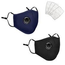 Пылезащитная маска Pm2.5 с фильтром, многоразовая моющаяся, с дыхательным клапаном, с активацией фильтра, респиратор, 2 шт.