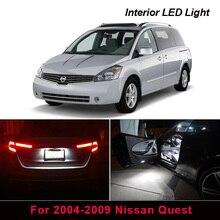 15 PCSสีขาวไฟLEDภายในชุดที่ถูกที่สุดสำหรับ2004 2009 Nissan Questแผนที่โดมTrunkกล่องถุงมือแผ่นป้ายทะเบียน