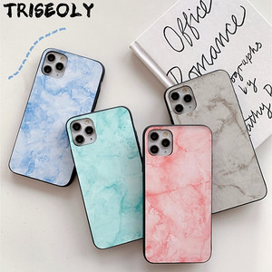 Marble Leather Texture Case For Samsung Galaxy A51 A71 4G A01 A10 A20 A30 A50 A40 A60 A70 A80 A90 M10S M30S A50S Hard Back Cover