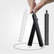 Erasable Pen-shaped Rulers Compasses Bookmark Professional Drawing Mechanical Writing Office Stationery Compass Ruler School