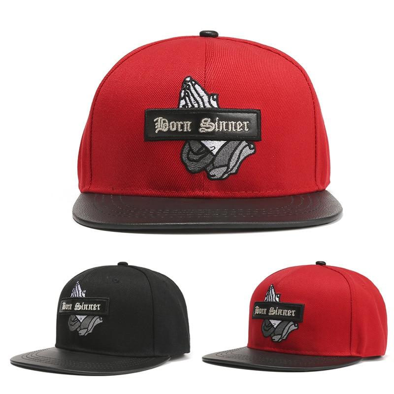 Men Caps Flat Hat Hip Hop Snapback Fancy Rivet Baseball Cap Street Dance Cap Trendy Men's and Women's Flat Hat