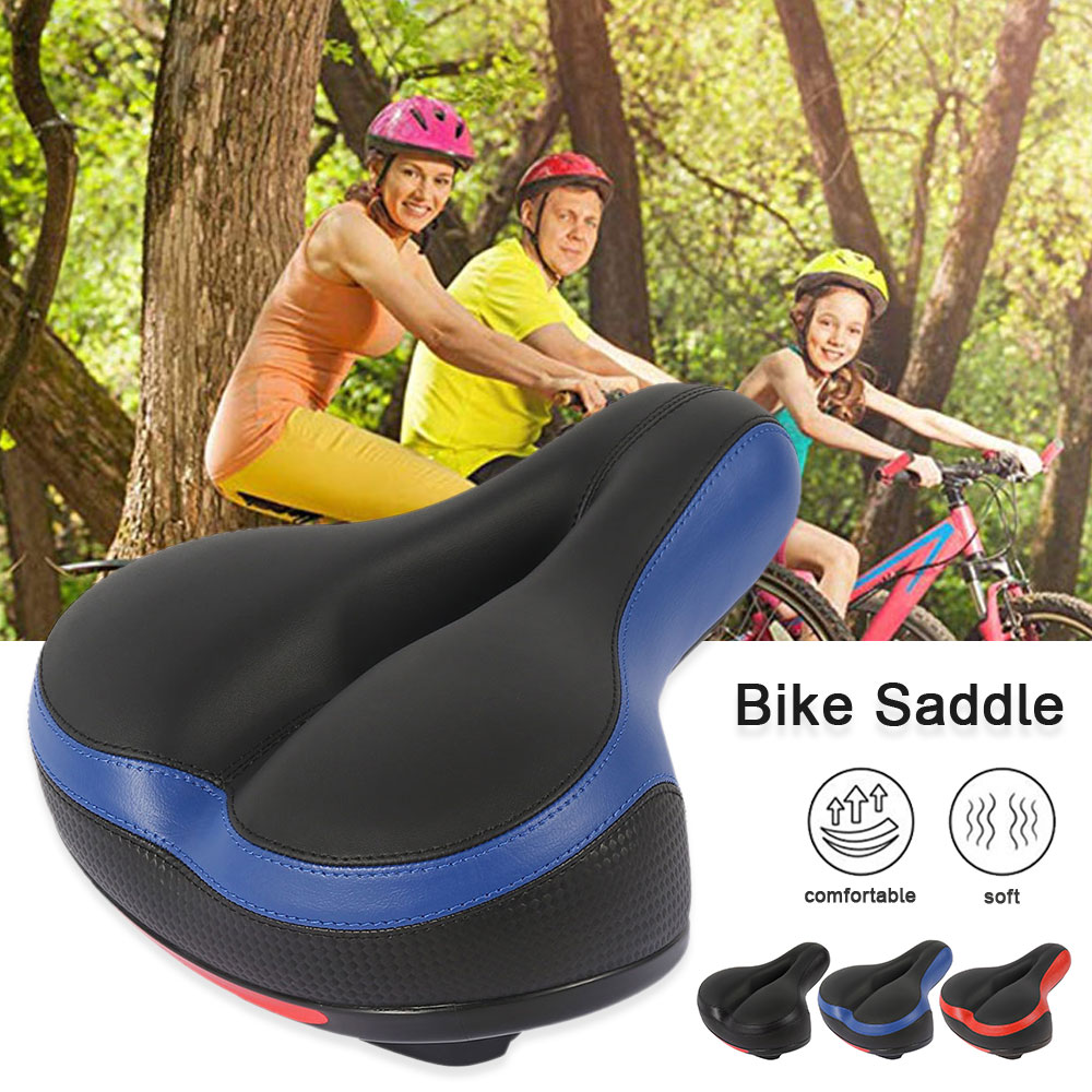 Person - Comfortable Wide Big Bum Bike Bicycle Gel Extra Sporty Soft Pad Saddle Seat