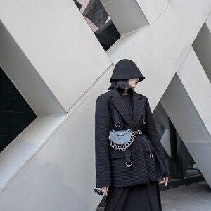 Image 5 - Sac à bandoulière en cuir Pu pour femmes, avec chaîne simple, accessoires de mode pour femmes, multifonction