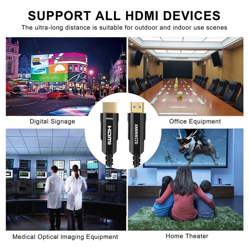 4K 60Hz HDMI Cavo In Fibra Ottica Ottica Cavo HDMI 2.0 2.0a HDR per HD TV Box Proiettore PS4 Cavo HDMI 2M 3M 5M 10m 15M 30M 50 M-200 M