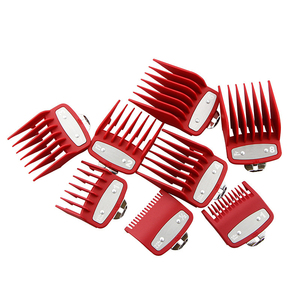 Image 3 - Universal gold electroplating electric hair clipper limit comb Guide Attachment 8 piece hair clipper caliper accessories