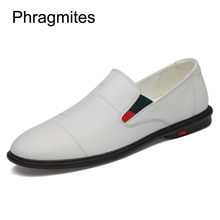 купить Phragmites Italian Mens Shoes Casual Brands Slip On Formal Luxury Shoes Men Loafers Moccasins Genuine Leather Black Driving Shoe онлайн