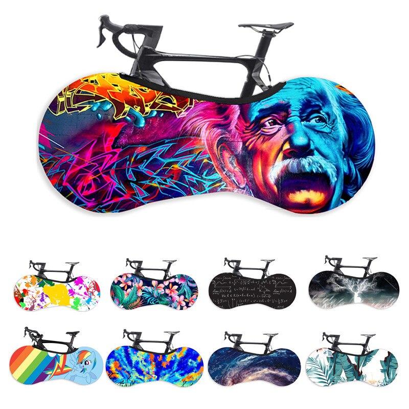 Protetor de bicicleta capa mtb estrada bicicleta engrenagem protetora anti-poeira rodas quadro capa scratch-proof saco de armazenamento da bicicleta capa de poeira