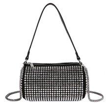 Women's Bag Underarm-Bag Diamond Korean Fashion with King Inlaid Full-Drill Portable