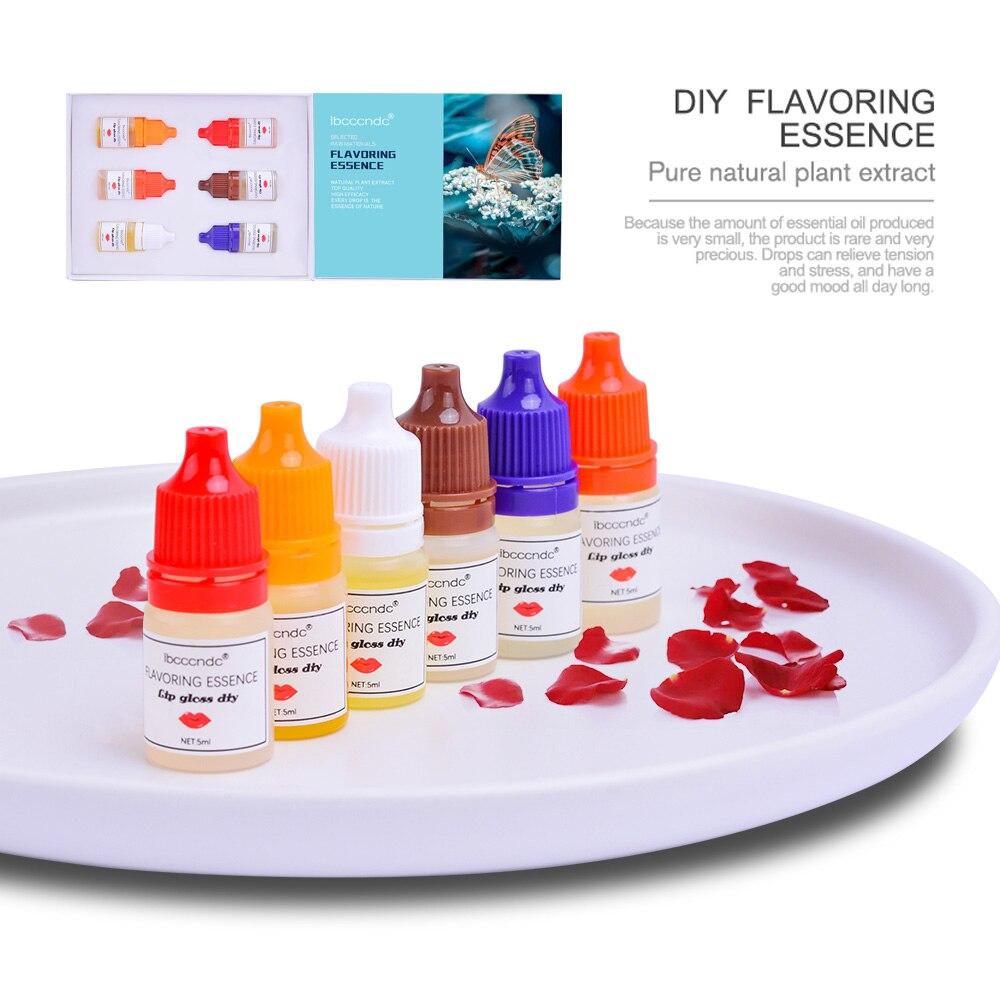6Pcs 5ml Reine Natürliche Flavouring Duft Ätherische Öle für Lip Gloss DIY Food Grade Geschmack Kosmetische Verwendung Lavendel rose Geruch