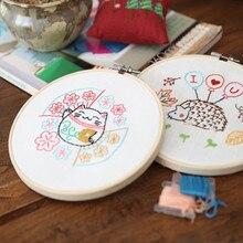 15*15 см круглая рамка простые вышитые крестом картины китайский стиль вышивка Игла DIY искусство для детей студентов