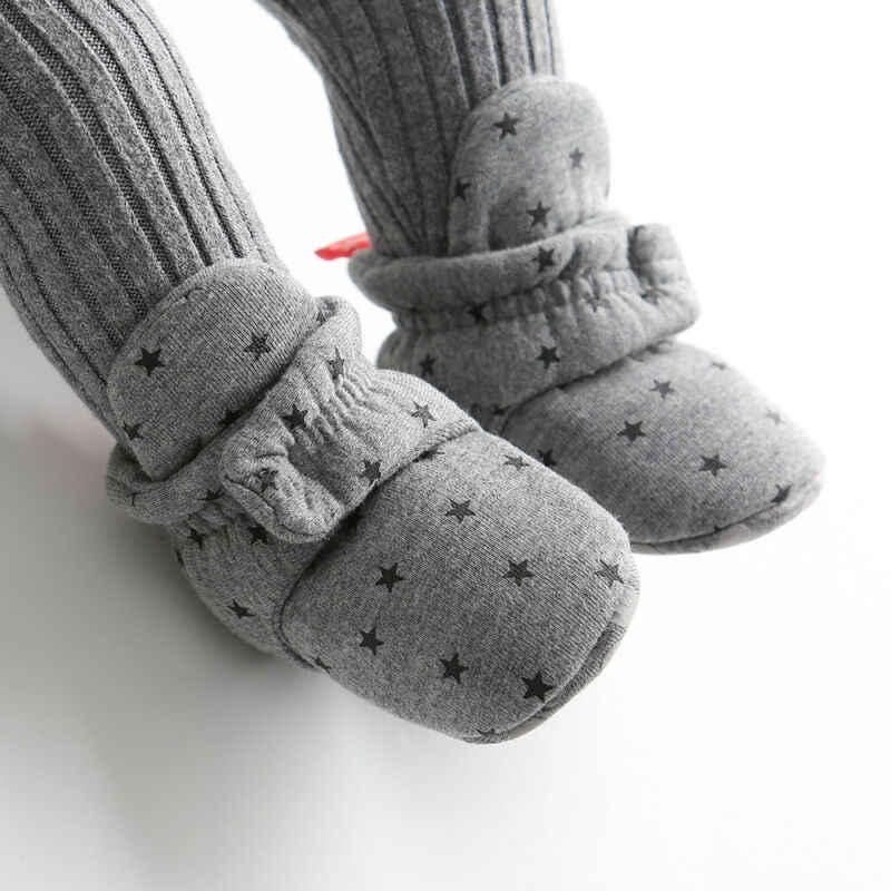 2019 Baby Pasgeboren Baby Sokken Schoenen Jongen Meisje Ster Peuter Eerste Wandelaars Booties Katoen Zachte Winter Warm Laarzen