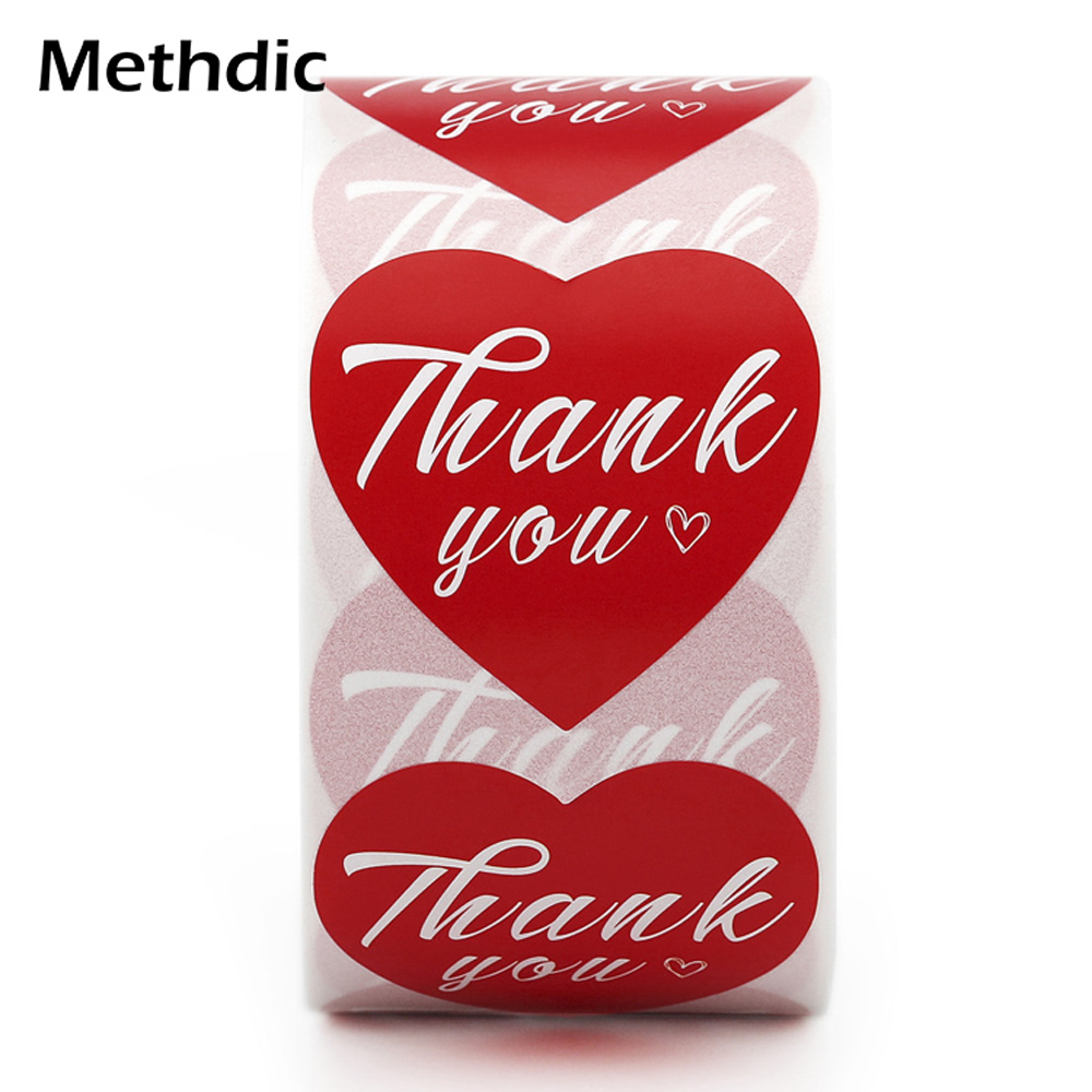 Methdic Fashion Roll Label Stickers Thank You For Gift