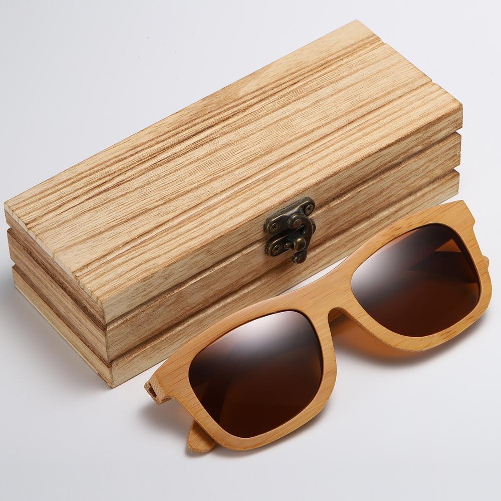 GM Vintage Bambu Kayu Kacamata Buatan Tangan Terpolarisasi Cermin - Aksesori pakaian - Foto 2