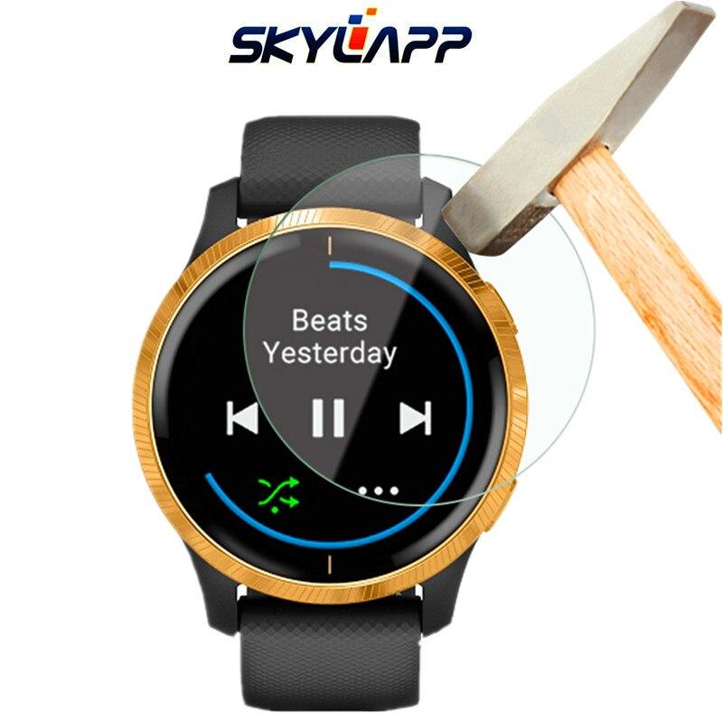 2 Pcs Smart Watch Tempered Screen Protector Guard Cover Shield Film For Garmin Venu HD Anti-scratch Electrostatic PET Film