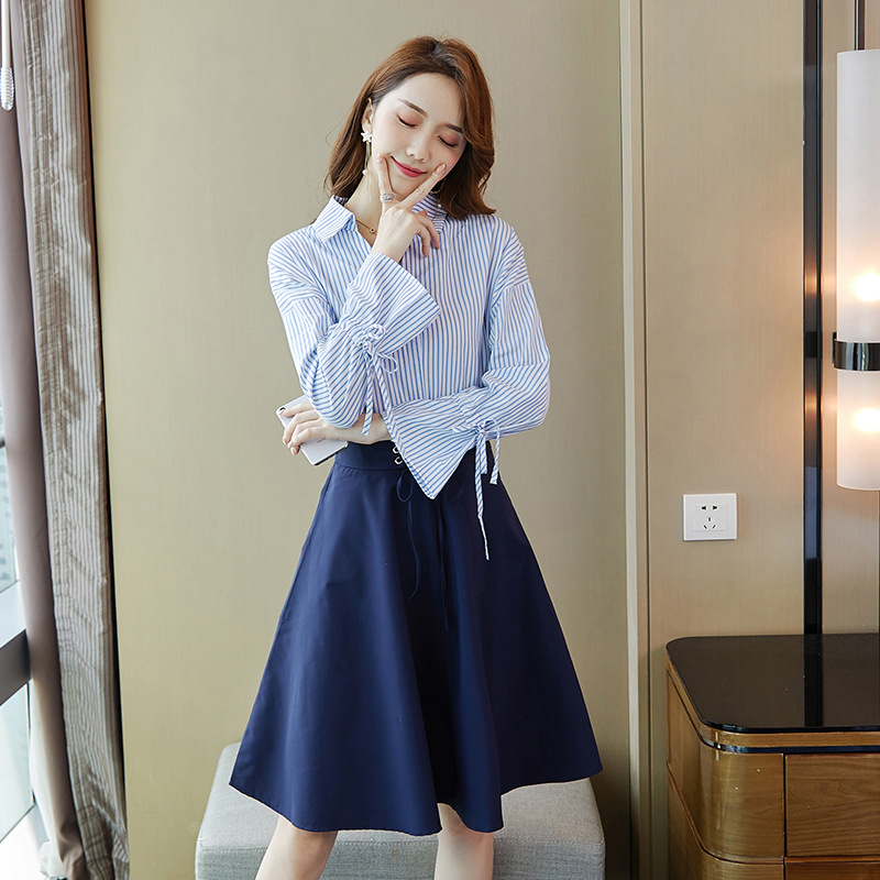 Casual Skirt 2019 Autumn New Style Korean-style WOMEN'S Wear Hipster Skirt A Generation Of Fat 9451-2