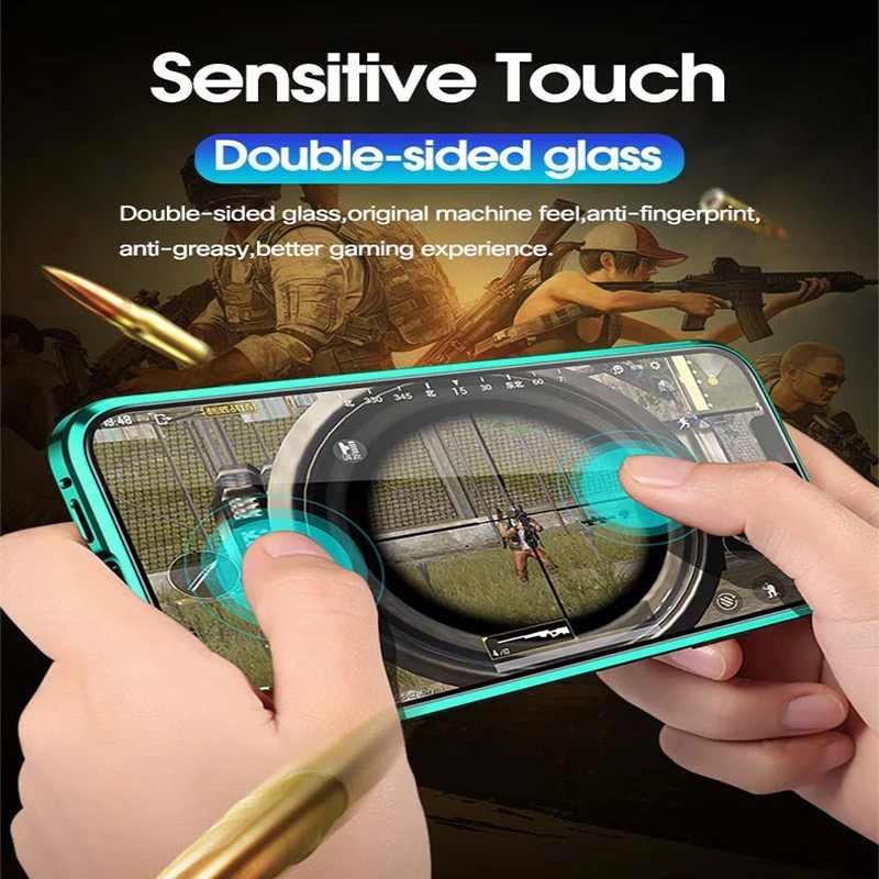 2 Mặt Từ Tính 360 Full Bảo Vệ Ốp Lưng Cho Redmi Note 8 Pro Lưng Dán Kính Cường Lực Dành Cho Xiaomi Mi 9 A30 K20 Ốp Lưng
