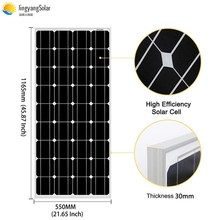 18V 100W/200W/300W/400W Monocrystalline Solar Panel for 12V Solar Battery Charge Home solar energy system 100W solar panels