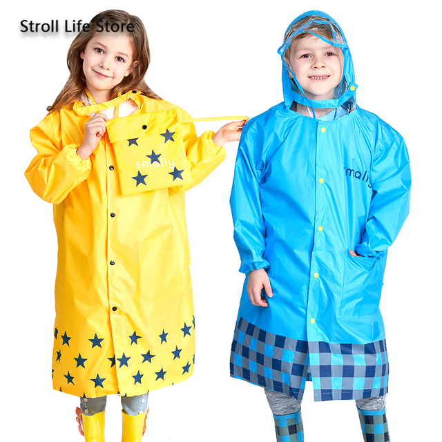 Girl Thickened Rain Coat Kids Yellow Rain Poncho Boy Cute Children Raincoat Rain Jacket Partner Waterproof Suit Impermeable Gift