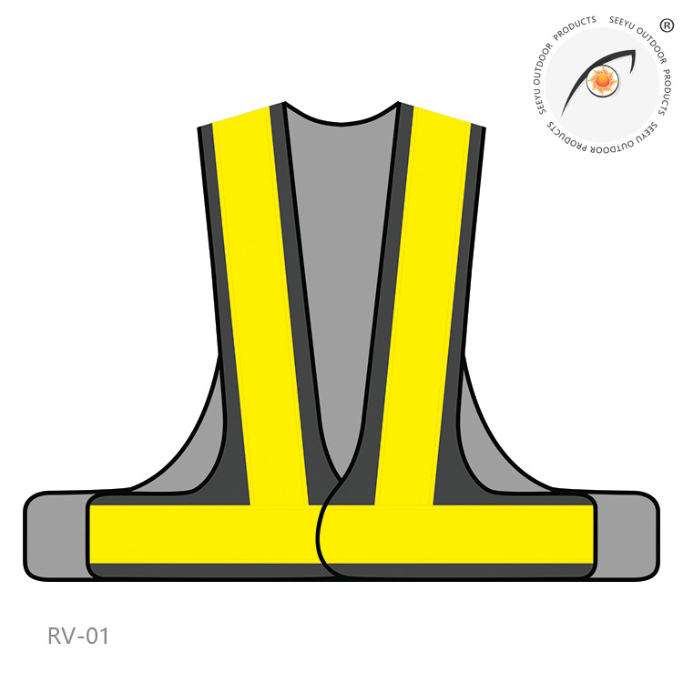 Export Japan Navy Orange Aureus 135G Yu Wang Bu 7 Shape L-Shaped Japan-Reflective Vest