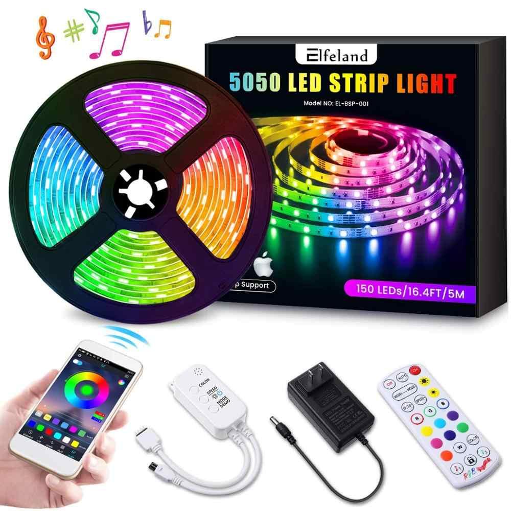 16.4FT 3528 RGB 5V Waterproof LED Strip Lights USB TV Backlight APP Control